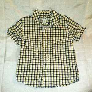 Boys Cherokee Plaid Short Sleeve Button Up
